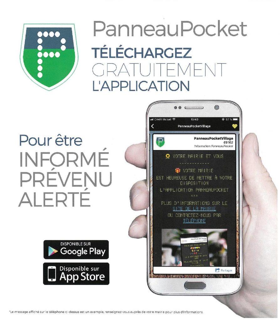Appli Panneau Pocket Sainte Mondane